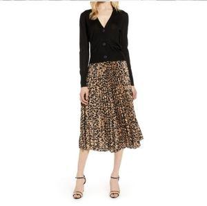 Halogen leopard Midi skirt